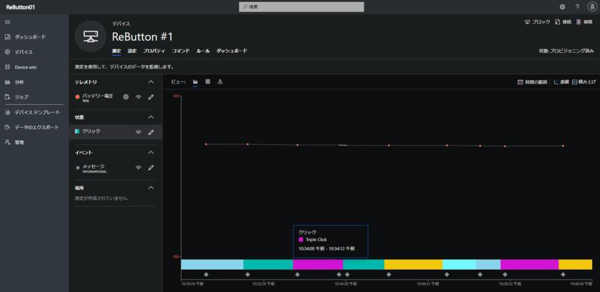 IoTデバイス 測定画面