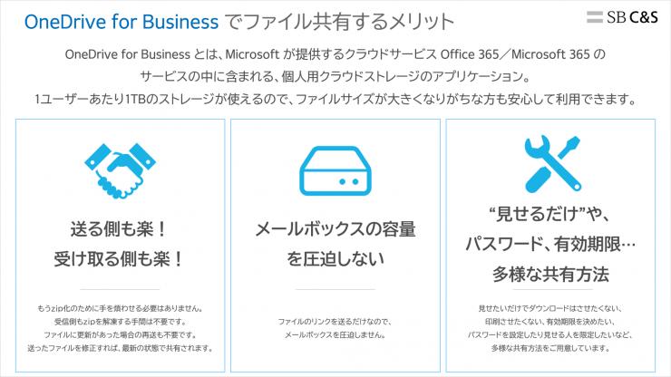 OneDrive for Businessでファイルを共有する3つのメリット