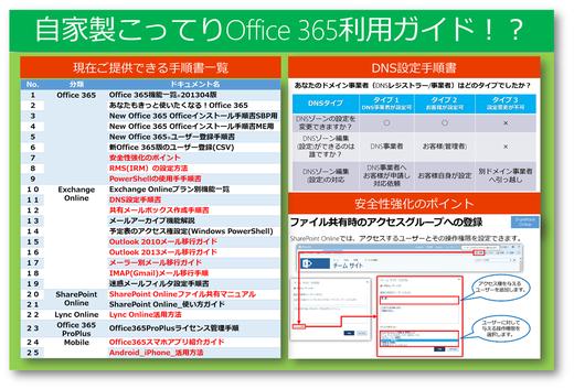 あの難しかった設定が簡単にできる!?Office 365相談センター自家製 Office365利用ガイド!