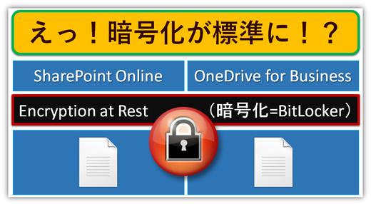 またまた安全性強化?標準でSharePointとOneDriveが暗号化される!?