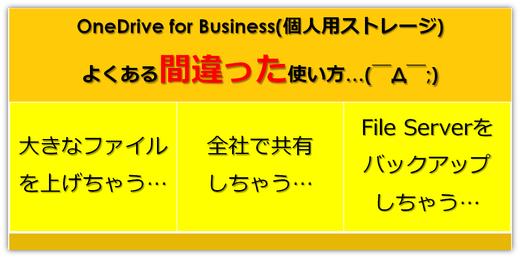 OneDrive for Businessのよくある間違った使い方