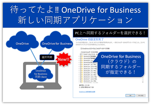 OneDrive for Business同期アプリがバージョンアップ!